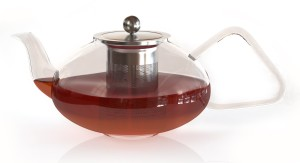 Pyrex Glass Teapot with Stainless Steel