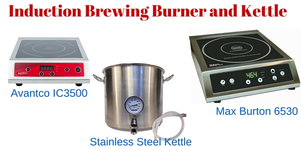 Induction Brewing Burner and Kettle