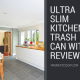 Ultra Slim Kitchen Trash Can