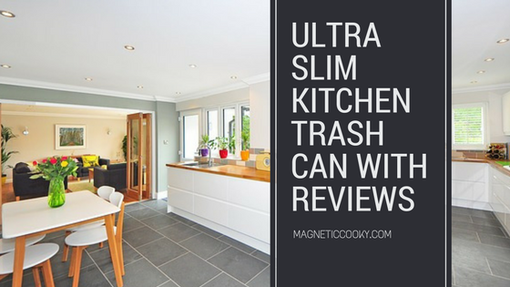 Ultra Slim Kitchen Trash Can